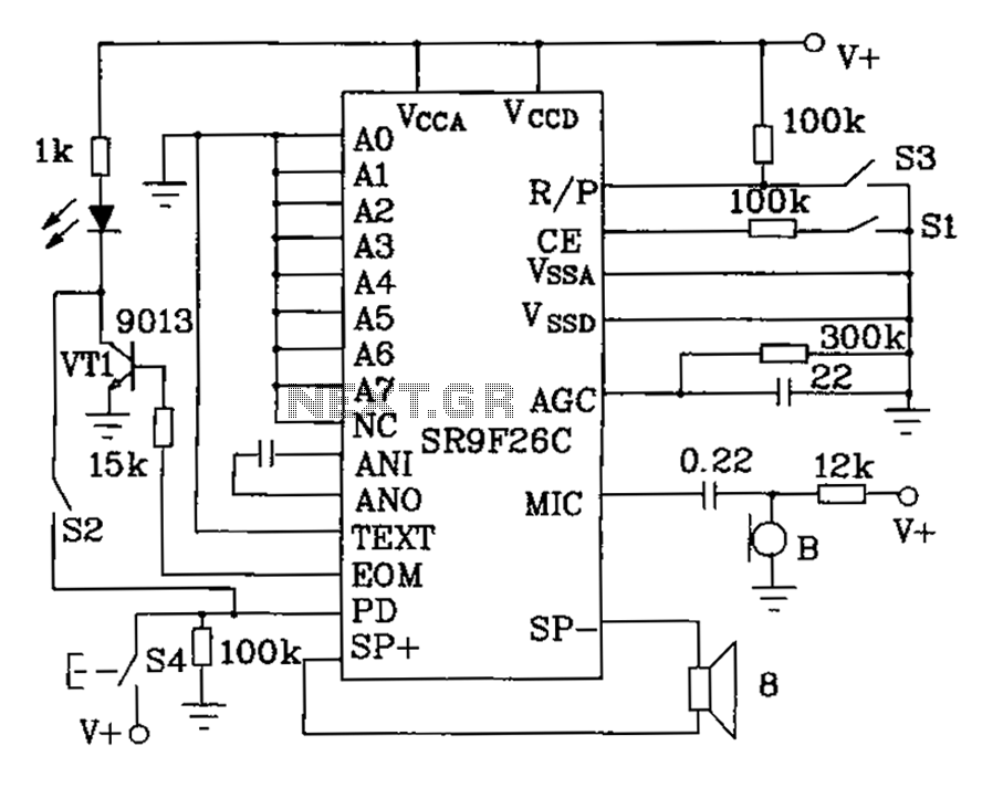 Other circuits use sr9f26c ordinary language learning machine tape use sr9f26c ordinary language learning machine tape recorder and circuit diagram ccuart Images