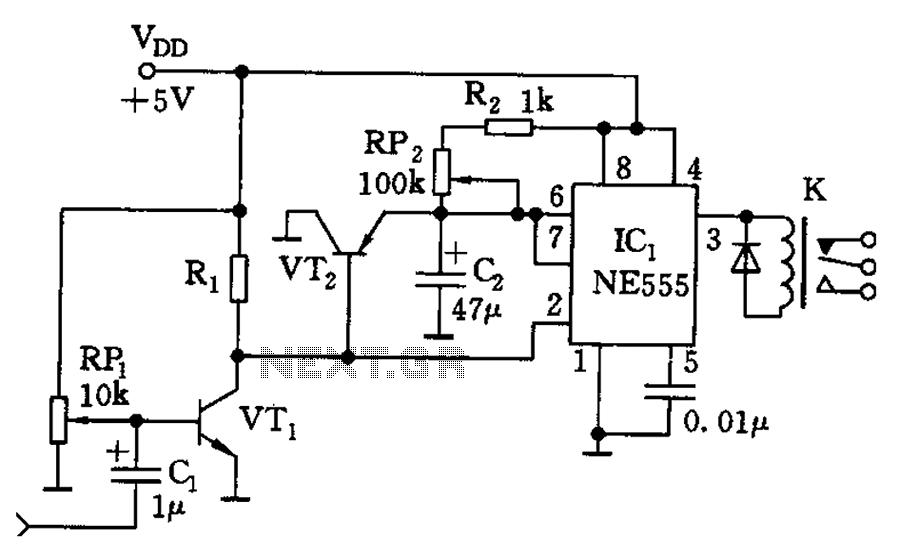 Voice relay circuit - schematic
