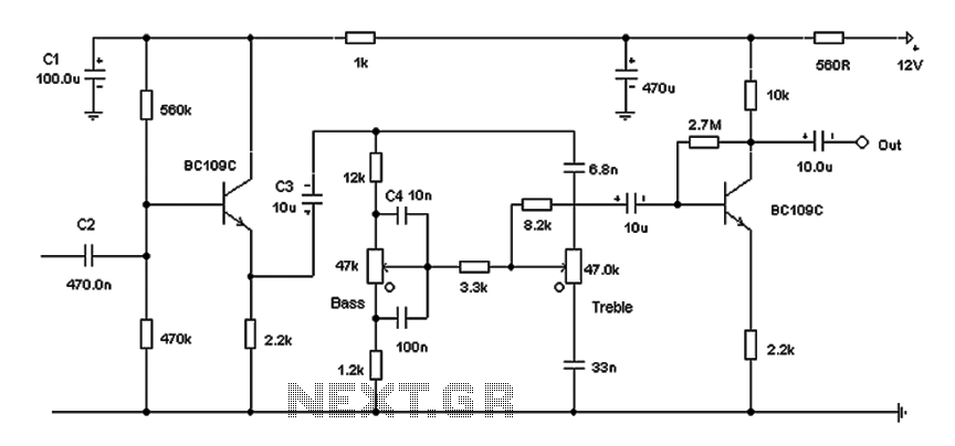 Volume control circuit - schematic