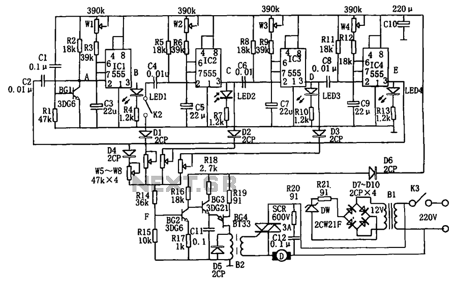 Winds from the 555 programmed - schematic