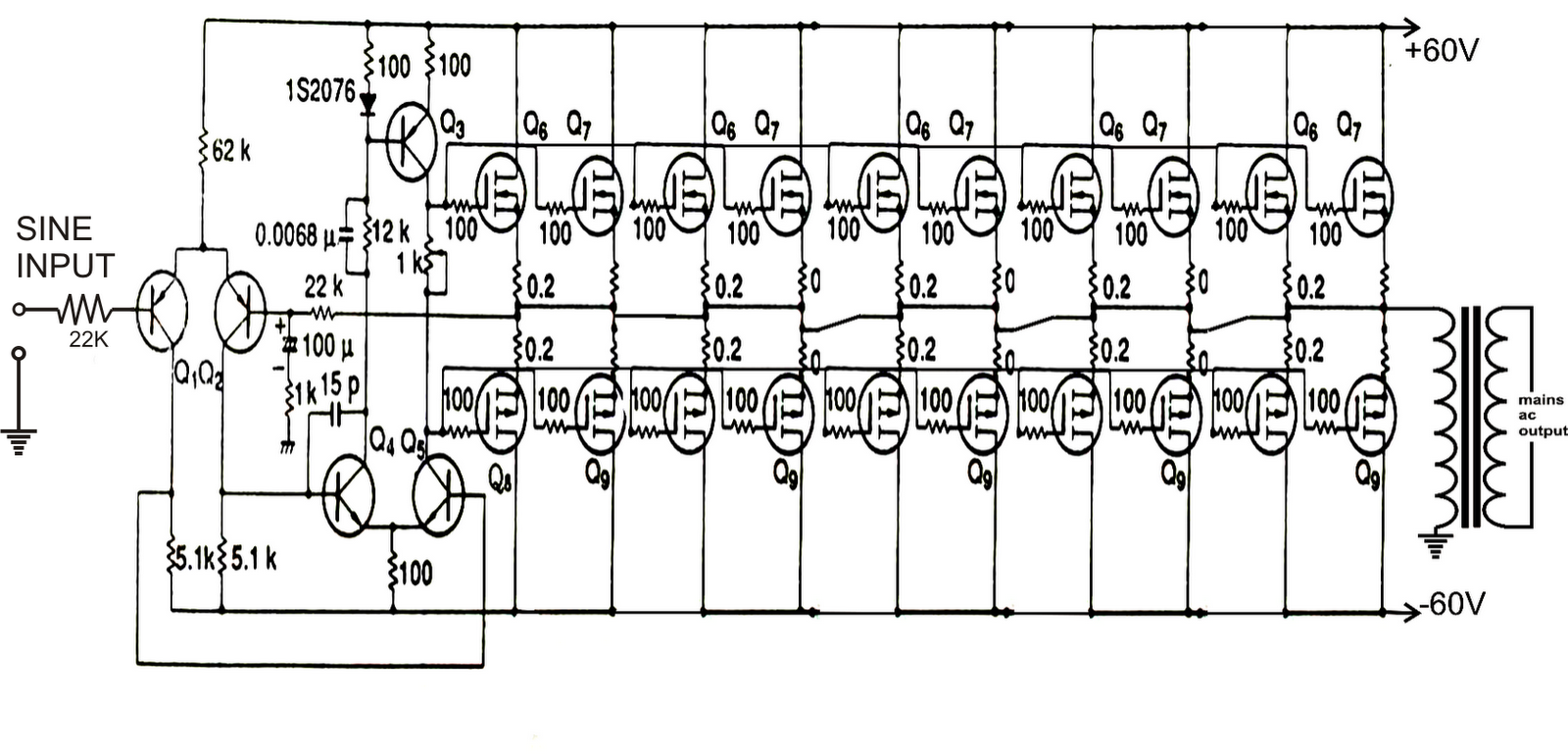 Top Circuits Page 118 300 Watt Mosfet Amplifier Circuit Explained Make This 1kva 1000 Watts Pure Sine