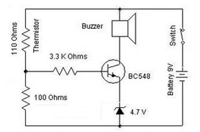 BC548 Heat Sensor Diagram Circuit