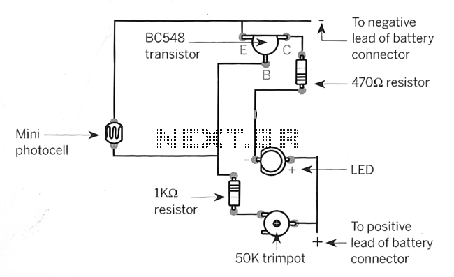 Light Sensor circuit - schematic