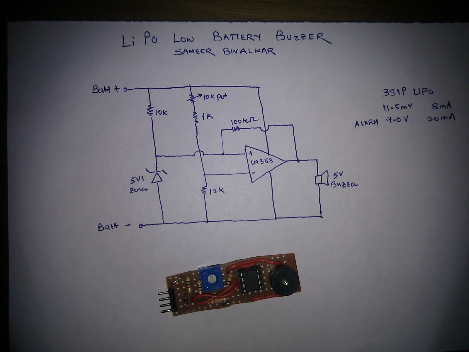 Battery Low Voltage Beeper