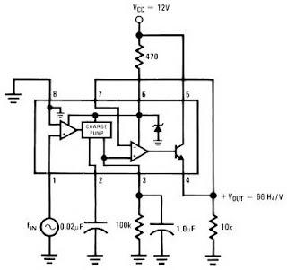 Frequency to Voltage Converter Circuit Schematic Diagram - schematic