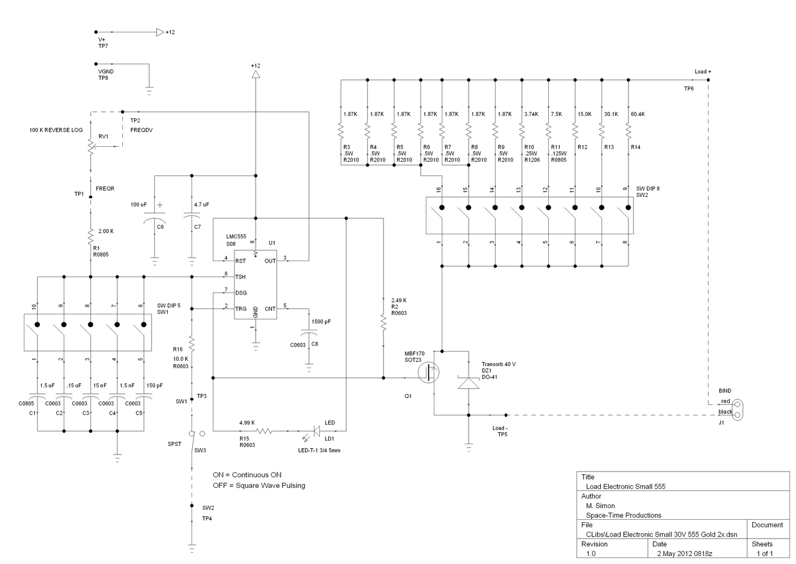 555 Timer Circuit Page 9 Other Circuits Mini Metronome By