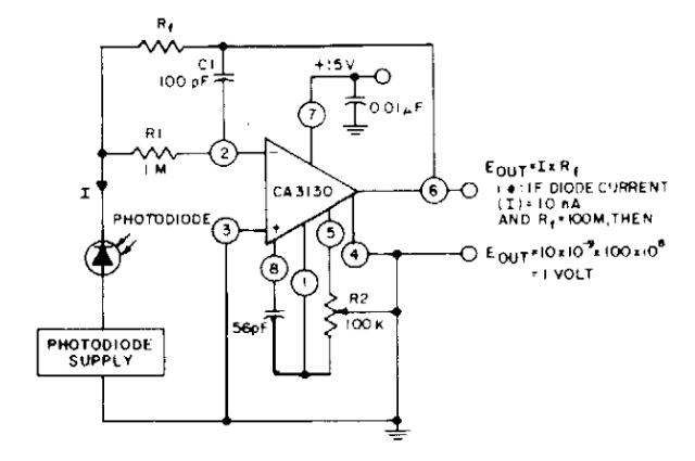 Photodiode current-to-voltage converter - schematic