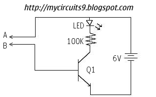SIMPLE CONTINUITY TESTER CIRCUIT - schematic