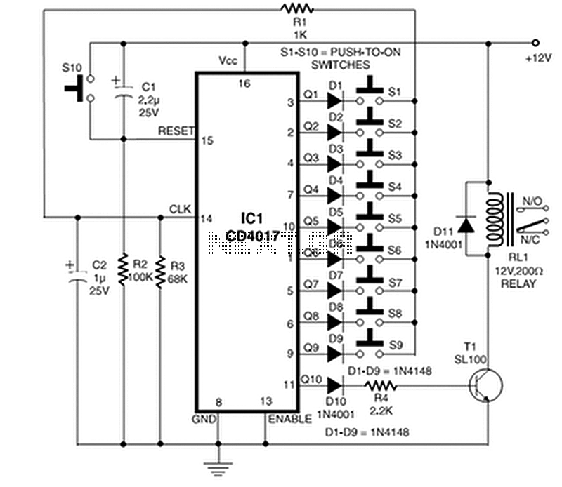 door lock circuit page 2 security circuits next grelectronic door code lock