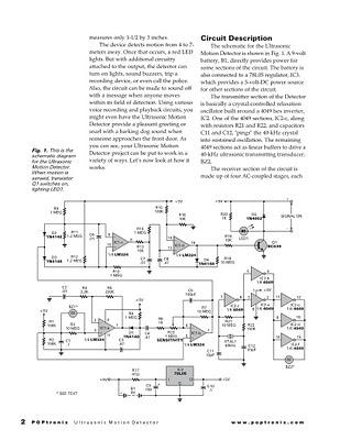 Super Motion Sensor Ultrasonic Motion Detector - schematic