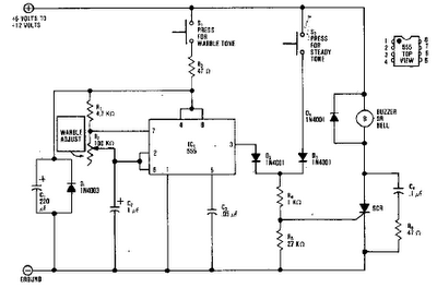 DEFROST TIMER CIRCUITS SCHEMATIC DIAGRAM