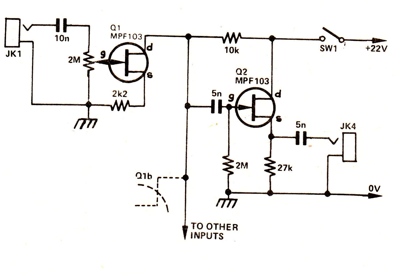 simple audio mixer circuits