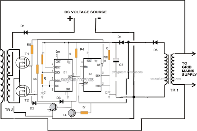 designing grid tie inverter circuit - schematic