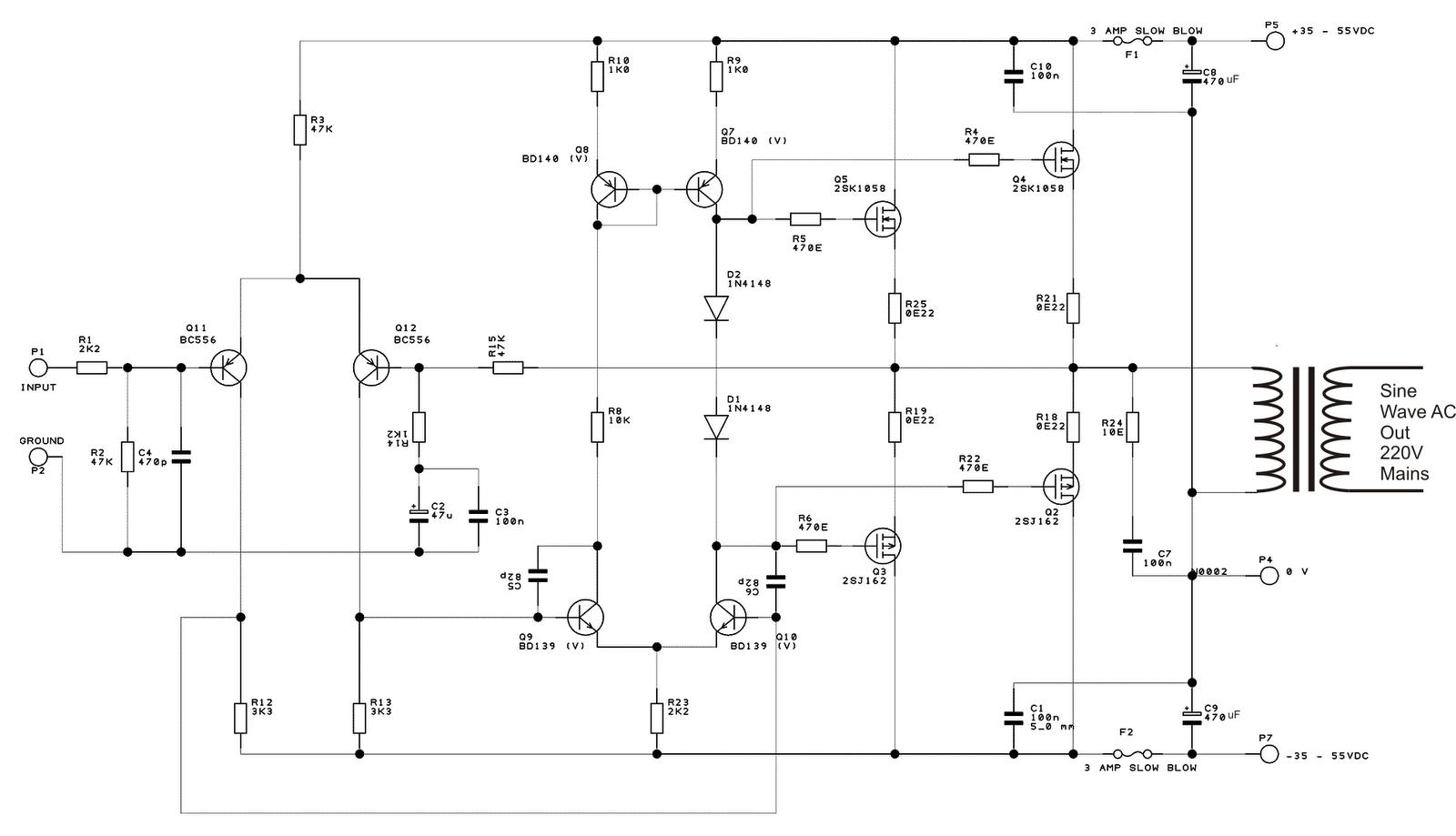 555 circuits - schematic