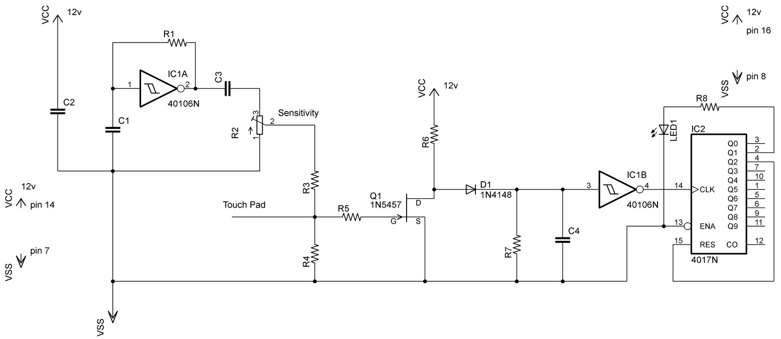 Human Detect Circuit Page 2 Sensors Detectors Circuits Mosfet Switch With Delay Timer Electronic Projects Low Cost Capacitive Touch Ii Schematic Explanation