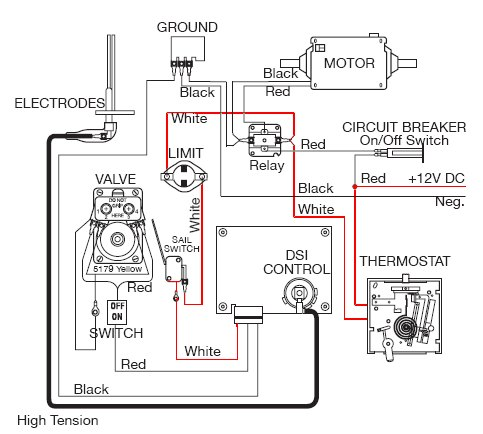 Honeywell Thermostat Wiring Diagram on atwood water heater wiring diagram