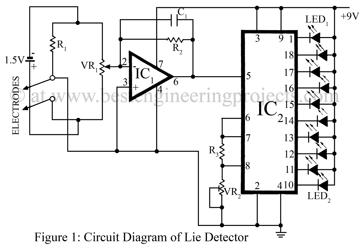 Electronic Circuits Page 27 Circuit Diagram Schematic Likewise Toy Organ 555 Timer Lie Detector