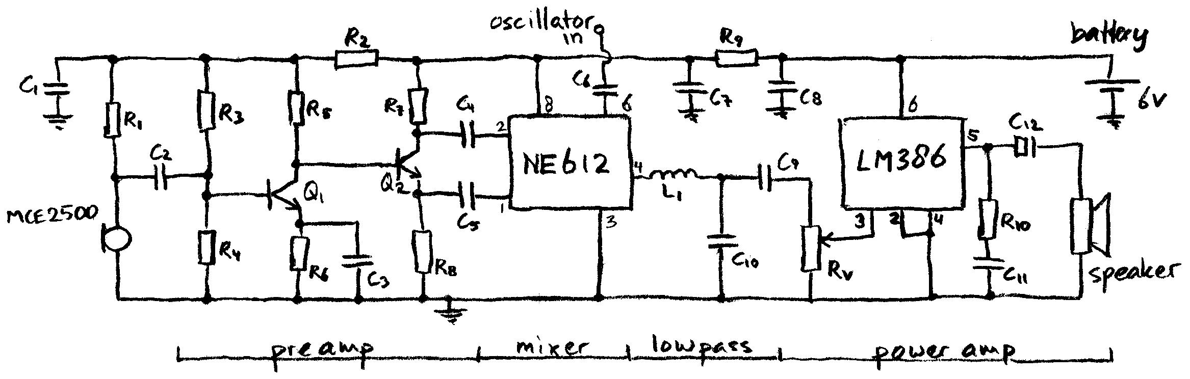 Popular Circuits Page 120 Tda1521a Stereo Audio Amplifier Circuit Ne612 Heterodyne Detector