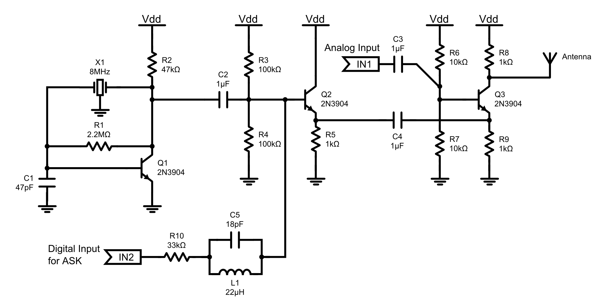 Fm Transmitter Circuit Schematic With Bfr90 - Wiring Diagram ... on