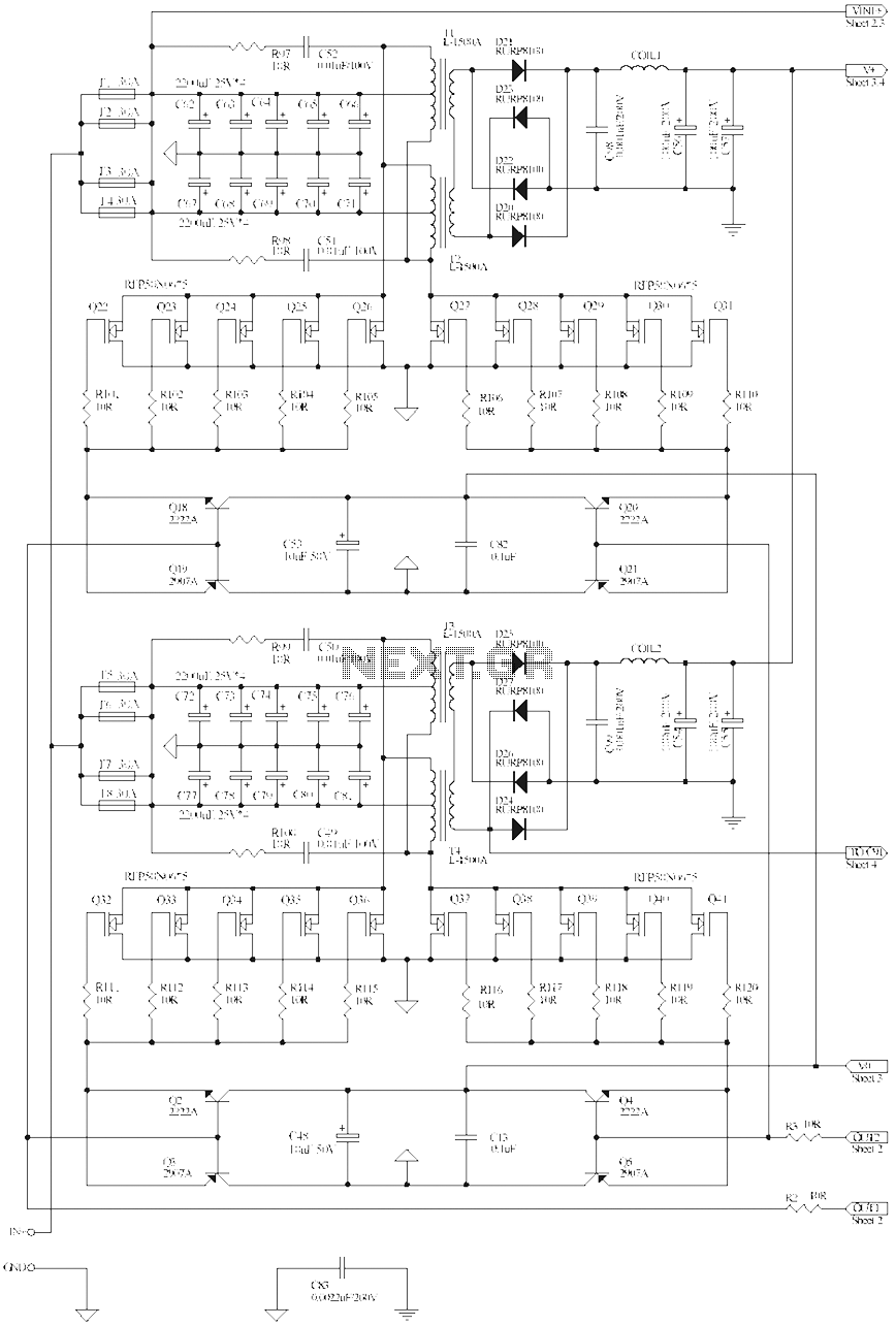 1500W high-power square wave inverter circuit diagram - schematic