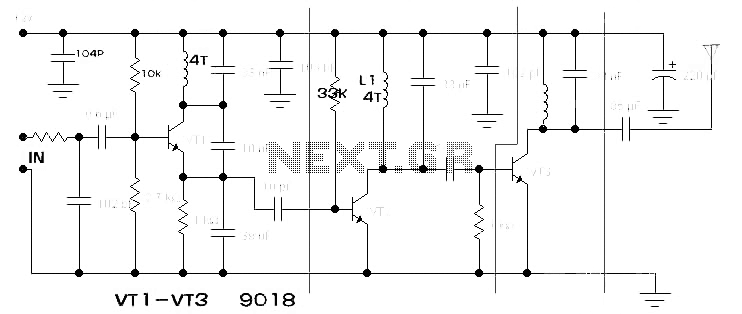 Low-power FM transmitter circuit diagram 1000M range