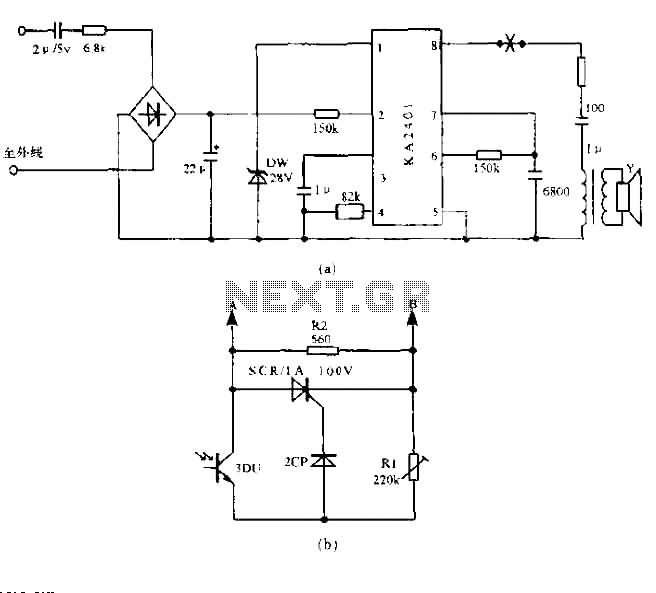 Light control circuit diagram - schematic