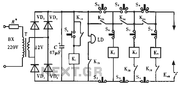 Simple lock circuit can alarm - schematic