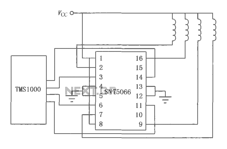 SN75064 ~ SN75067 current Darlington circuit diagram of a switch - schematic