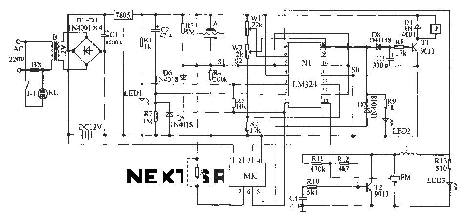 Discharge current adjusting circuit - schematic