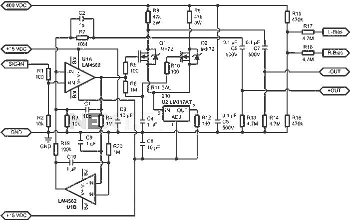 ESL amplifier circuit diagram - schematic