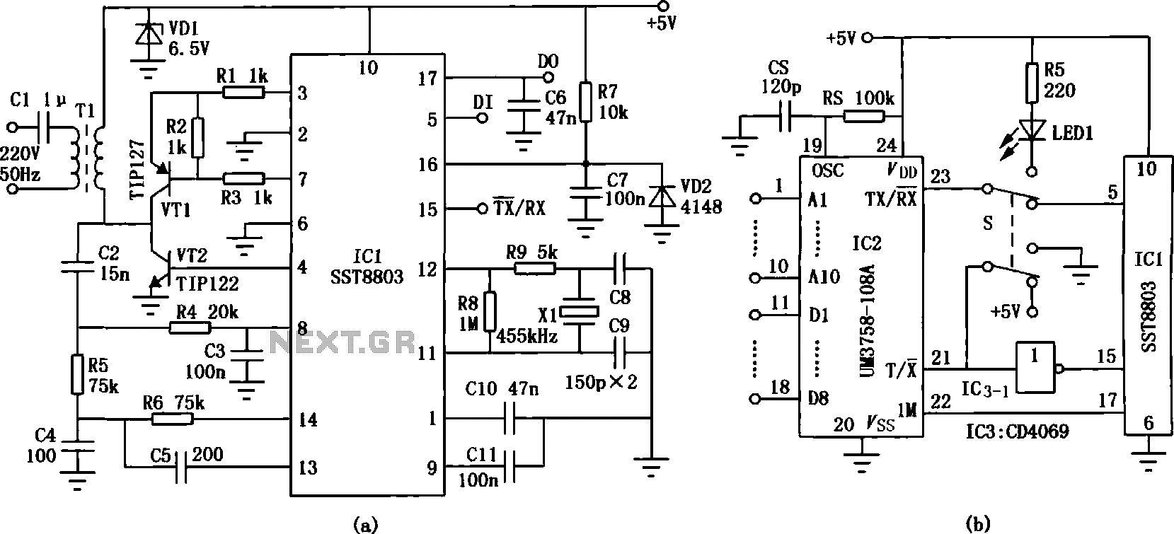 infrared wireless headphones circuit under infrared