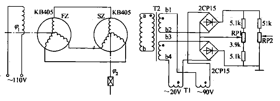 Phase-sensitive rectifier circuit - schematic