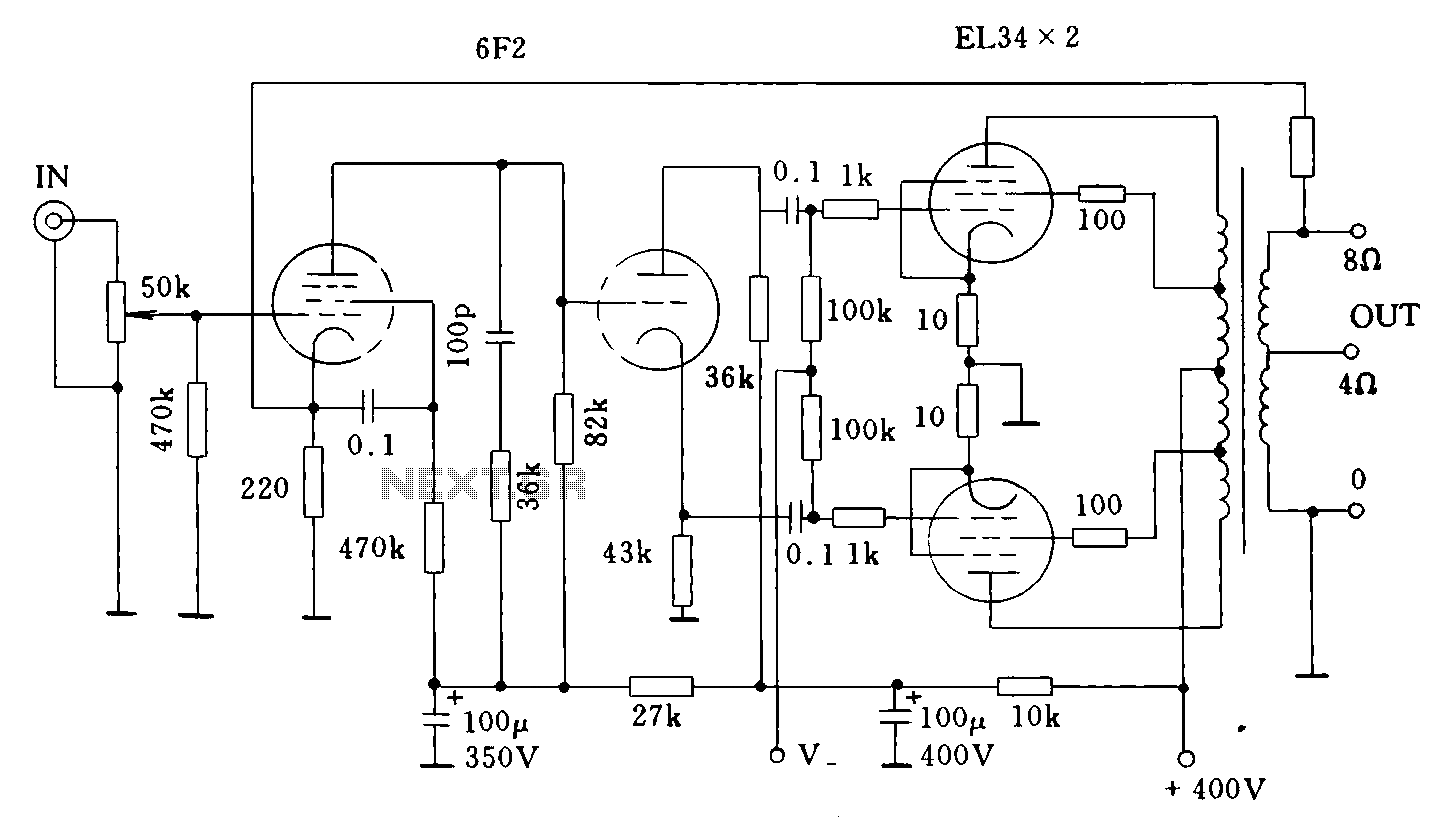 Dynaco ST70 Tube Amplifier circuit - schematic