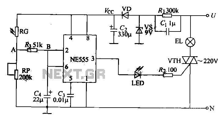 Street light control circuit - schematic
