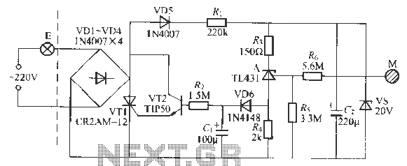 Touch light switch delay circuit - schematic