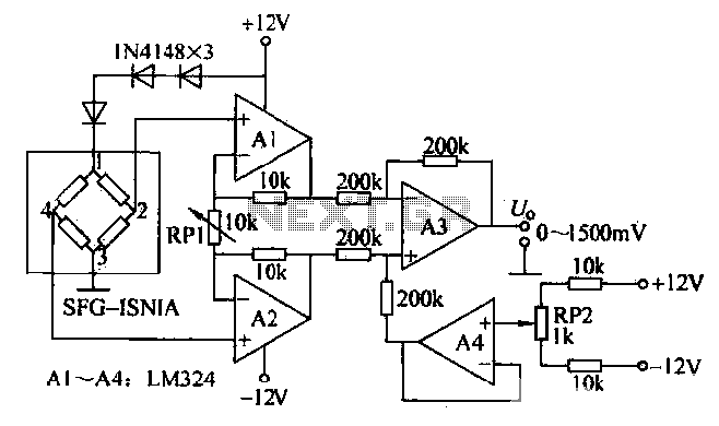 Pressure measurement circuit diagram - schematic