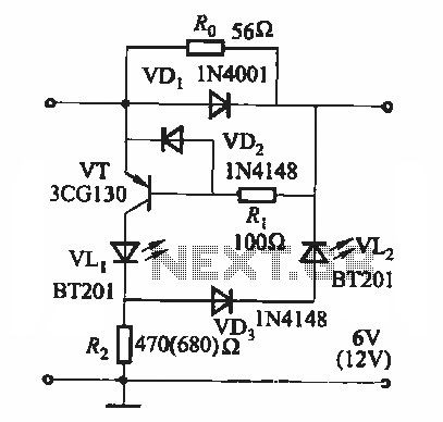 Battery state of charge indicator circuit - schematic