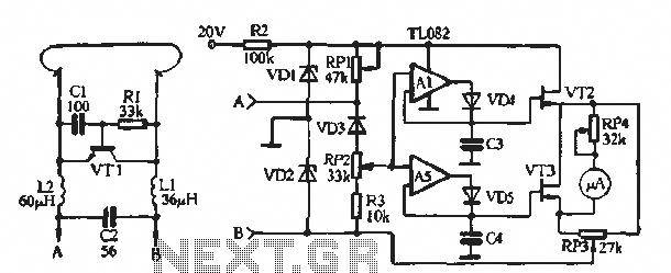 Soil moisture meter circuit - schematic