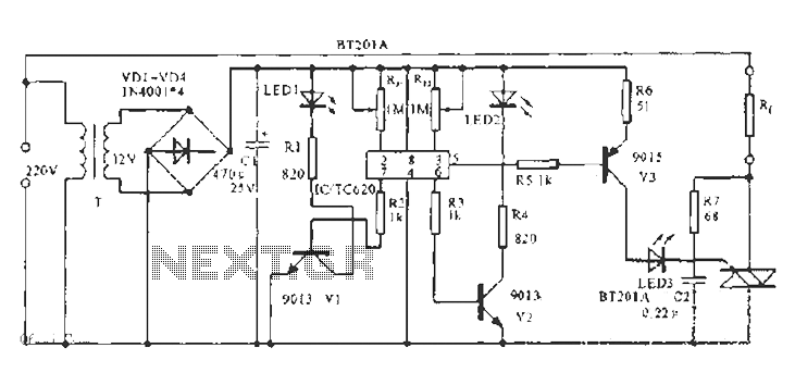 Thermostat controller integrated circuit schematic - schematic