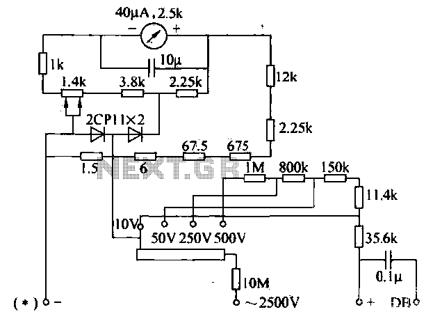 multimeter ac voltage measuring circuit under meters circuits