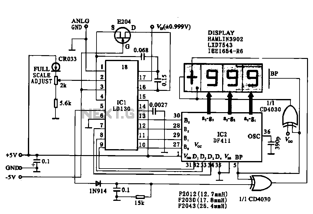 display driver circuit digital voltmeter under voltmeter circuits