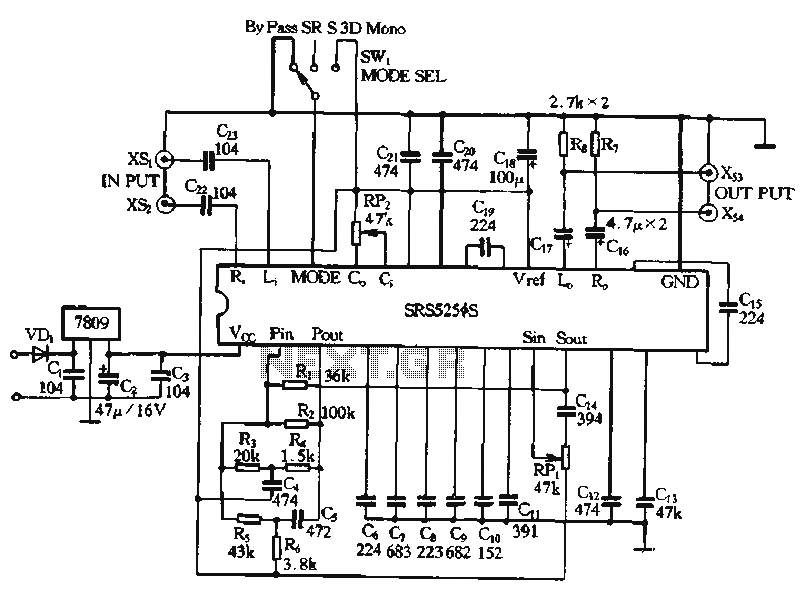 SRS5250S Application circuit diagram - schematic