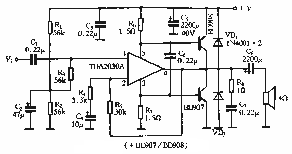 u0026gt  other circuits  u0026gt  tda2030a application circuit single