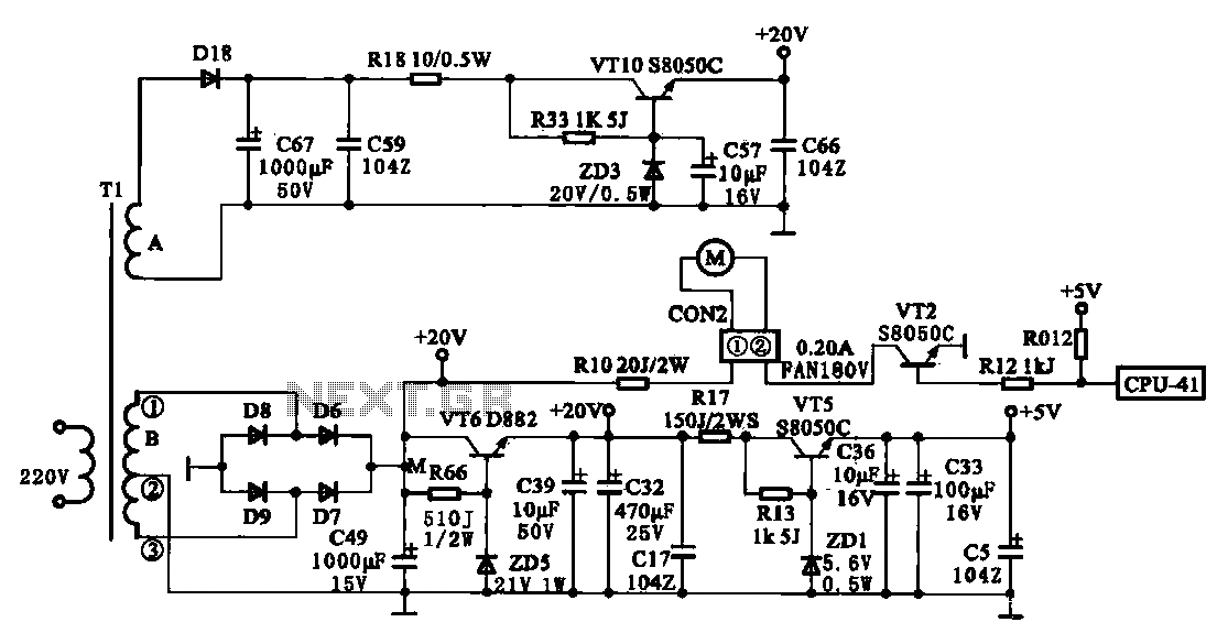 Joyoung JYC-22F-type low-voltage power supply circuit - schematic
