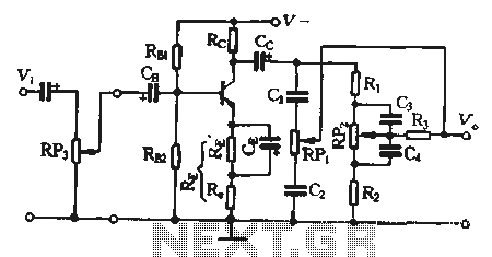 Preamp using the current series feedback circuit - schematic