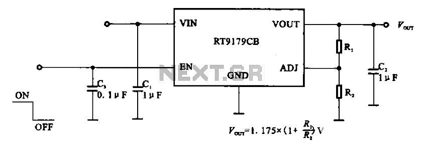 RT9179CB management chip power supply circuit - schematic