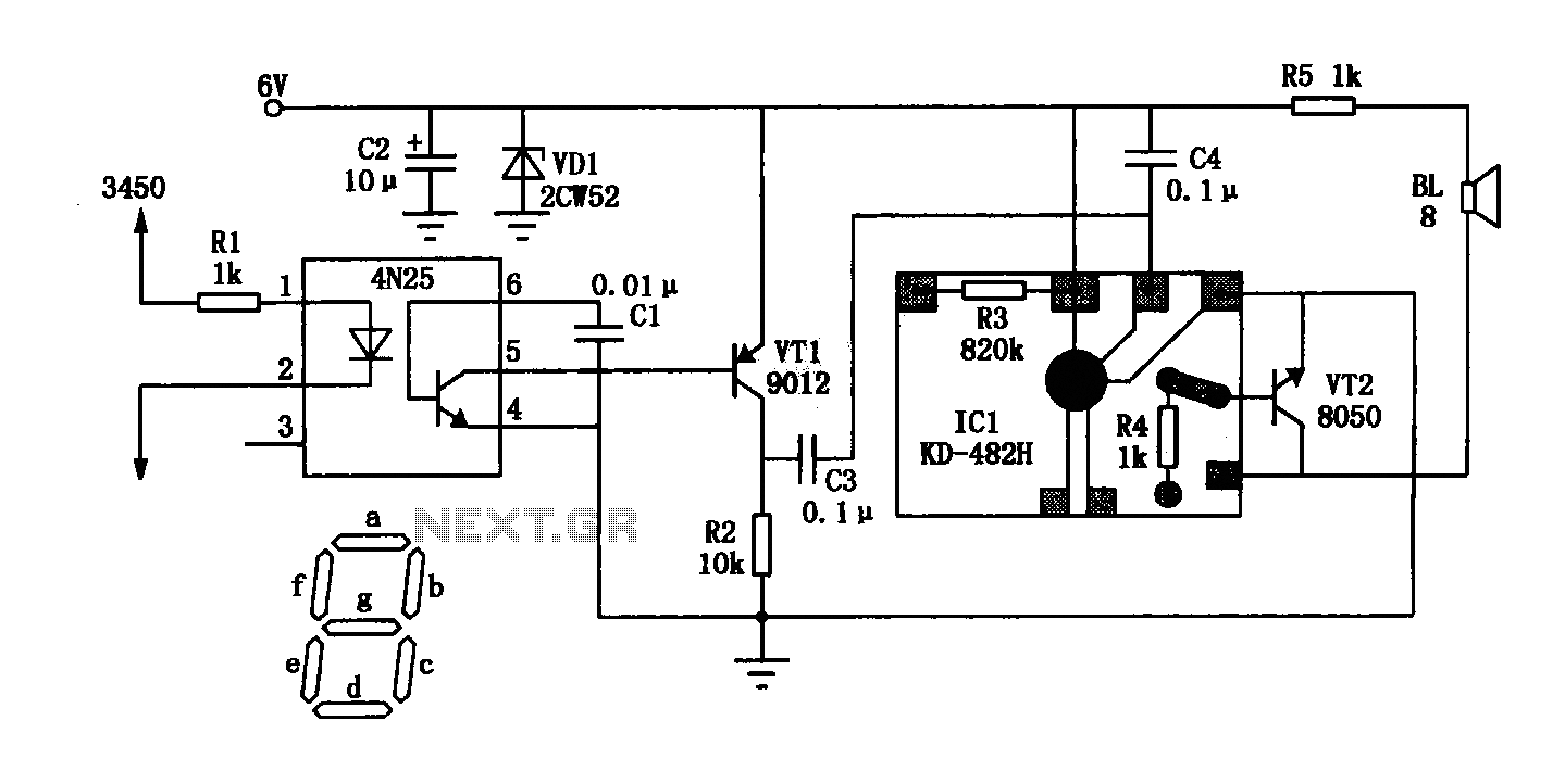 LED digital clock language timekeeping circuit - schematic