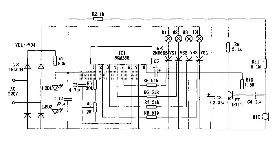 lights 5GM168 control circuit diagram - schematic
