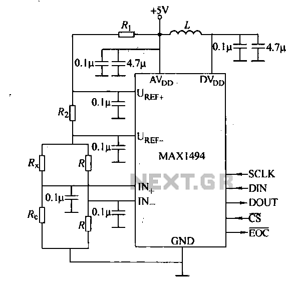 Digital circuit strain with MAX1494