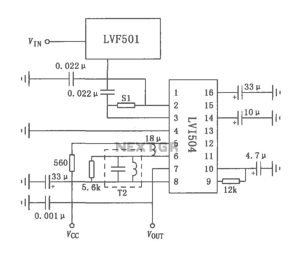 LVF501 FM radio tuner circuit - schematic
